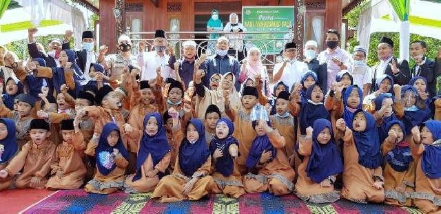 Bupati Irwan Peringati Maulid Nabi Bersama Puluhan Hafiz Cilik