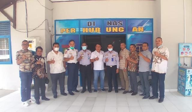 DPRD dan Dishub Pesisir Selatan Kunjungi Dishub Kampar