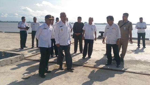Pemkab Kepulauan Meranti Berupaya Lanjutkan Proyek Pelabuhan Dorak