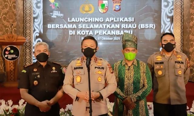 Giliran di Kota Pekanbaru, Kapolda Riau Launching Aplikasi BSR