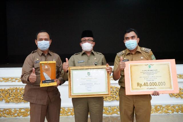 Kecamatan Lubuk Dalam, menjadi Kecamatan terbaik di Provinsi Riau