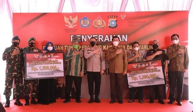 2.233 Pedagang Kaki Lima dan Warung di Kota Pekanbaru Dapat Bantuan Tunai