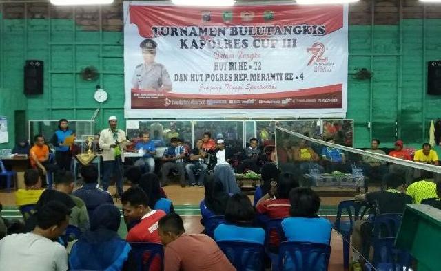 Kapolres Cup III Dibuka, 78 Pebulutangkis Siap Bertanding