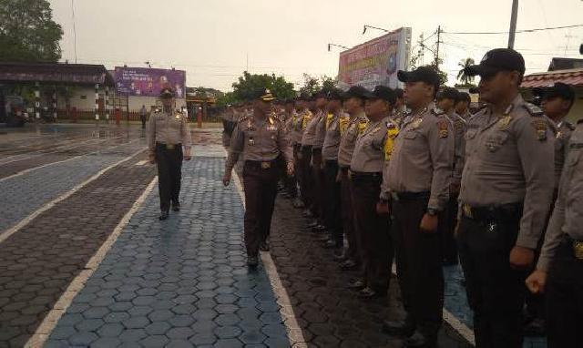 Kapolres Kepulauan Meranti Terjunkan Personel PAM Pilkada Riau